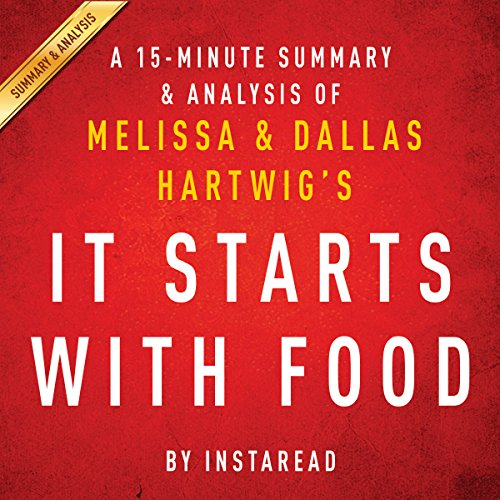 A 15-Minute Summary & Analysis of Melissa and Dallas Hartwig's It Starts with Food audiobook cover art