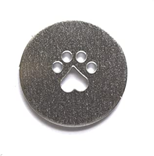 RMP Stamping Blanks, 1 Inch Round with Paw Print, Aluminum 0.063 Inch (14 Ga.) - 50 Pack