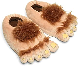 Womens Furry Monster Adventure Slippers, Comfortable...
