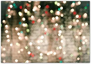 Funnytree 7x5ft Christmas Glitter Bokeh Halos Backdrop for Photography Merry Xmas Winter Glow Sparkle Party Background Holiday Baby Shower Birthday Party Banner Portrait Photo Booth Studio
