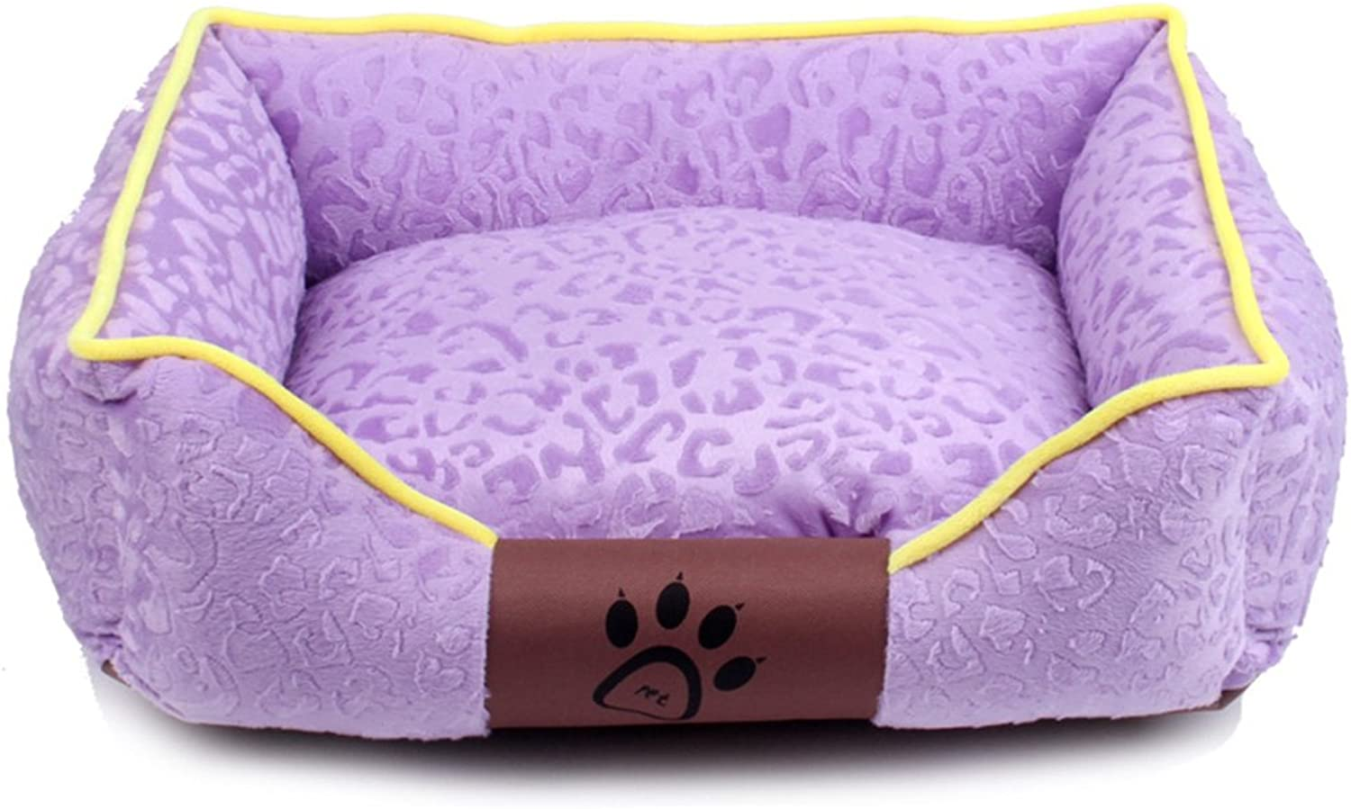 BEDS Dogs Furniture Washable Rectangular Purple Stereo Nesting Dog Hole Pet Cats and Dog (Size   56cm)