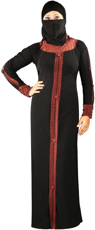 Classy Brown Traditional Lycra burqa