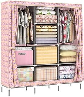 ZCY Armoire Pliante, Armoire à Double Toile Armoire Portable Armoire de Meubles en Tissu Armoire de Rangement de vêtements...