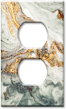 Art Plates Duplex Outlet Cover Wall Plate - Gold Granite