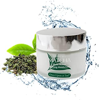 Green Tea Matcha Multi-Action Refining Moisturizer, 90% Organic Day & Night Cream, All skin types, Best For Anti Wrinkle, Anti Aging, Deep Hydrating & Moisturizing, Face, Eye, Neck, Décolleté area