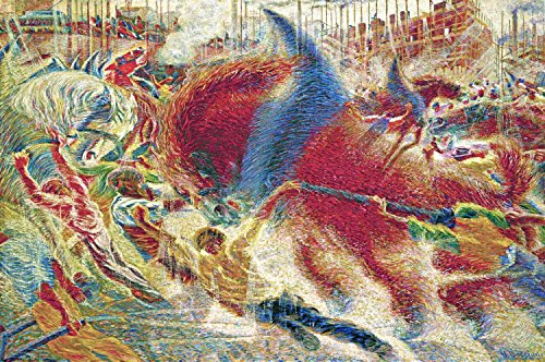 """Canvas Print Wall Art - The City Rises - by Umberto Boccioni - 24"""" by 16"""""""
