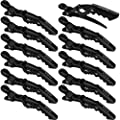 Xtava Styling Hair Clips for Women - 12 pcs Professional Plastic Hair Sectioning Clips - Durable Alligator Hair Clip with Nonslip Grip and Wide Teeth for Easy Styling of Thick and Thin Hair