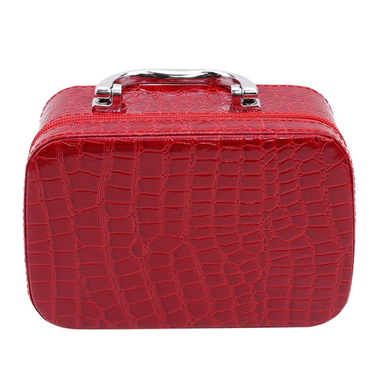 失望いとこスキャン1st market ミラーが付いている優れた旅行携帯用化粧品袋のオルガナイザーの女性の化粧品の箱
