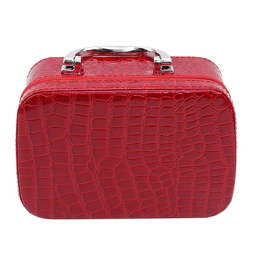 医療過誤うんざりリーク1st market ミラーが付いている優れた旅行携帯用化粧品袋のオルガナイザーの女性の化粧品の箱