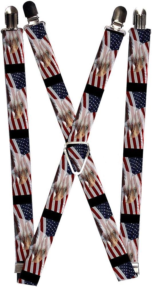 Buckle-Down Men's Suspender-Americana, Multicolor, One Size