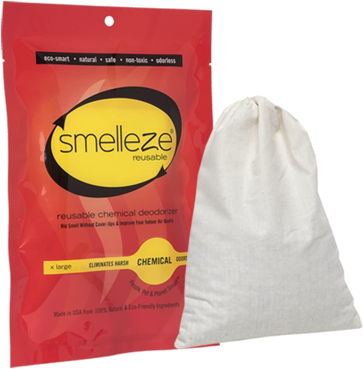 Super intense Selling SALE SMELLEZE Reusable Chemical Odor Eliminator Pouch: All-N Large XX