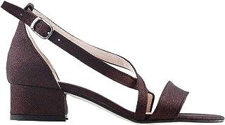 Ayakland 616-1171 Günlük 3 Cm Topuk Bayan Simli Sandalet Ayakkabı BORDO