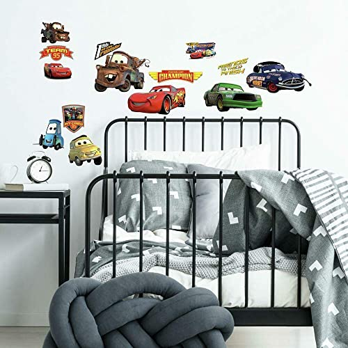 RoomMates RMK1520SCS Disney Pixar Cars Piston Cup Champs Peel and Stick Wall Decals