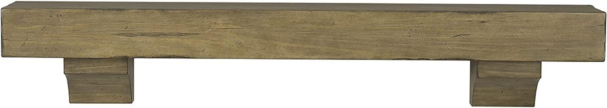 Pearl Mantels 412-60-10 The Shenandoah 60-Inch Shelf/Mantel Shelf Dune Rustic Distressed Finish