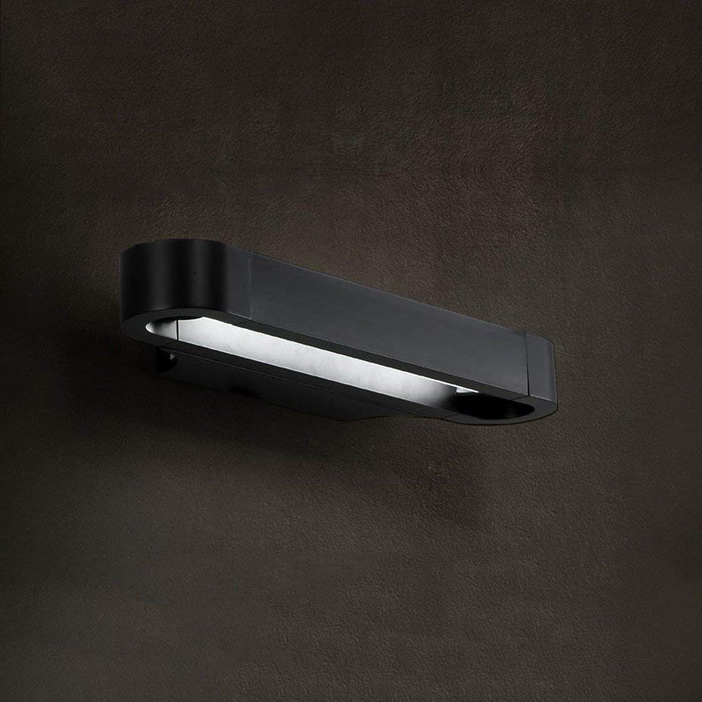 Spiegelleuchte Bad Licht Spiegel Licht Einführung über Wandern Wandleuchte Retro Aluminium Kunst Moderne Spiegel Vorderwand Lampen Persnlichkeit (Farbe   schwarz 35cm)