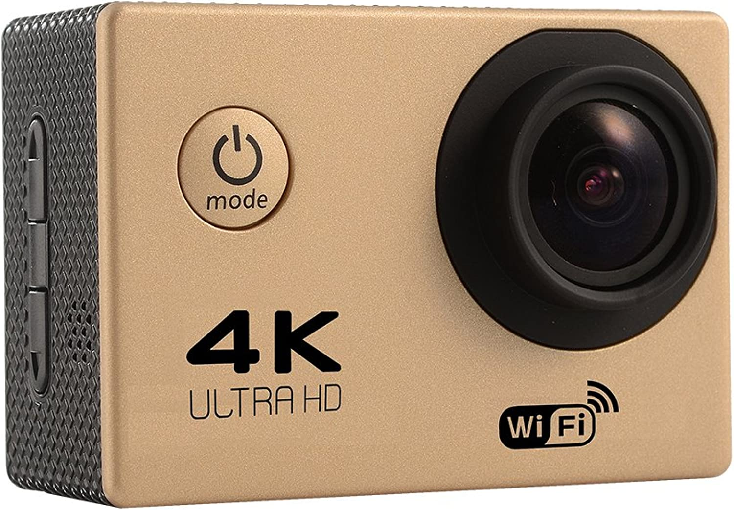 Sports Action Cam Camera Waterproof 4K WiFi HD 1080P Ultra Sports Digital DVR Cam Camcorder 2.0 inch LCD Screen (gold)
