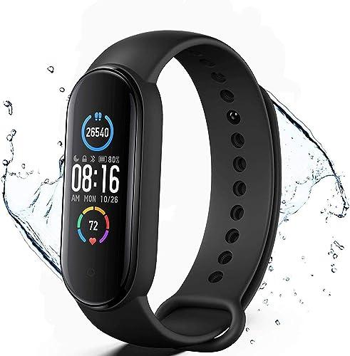 Smartwatch,Pulsera de Actividad física,Reloj Inteligente con Oxígeno Sanguíneo Presión Arterial Frecuencia Cardíaca,p...
