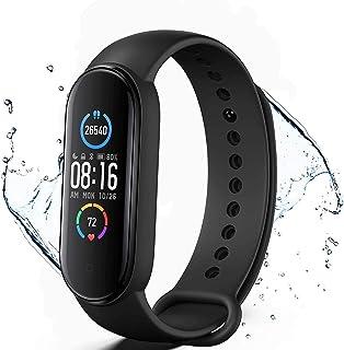 Pulsera de Actividad física M5,Reloj Inteligente con Oxígeno Sanguíneo Presión Arterial Frecuencia Cardíaca,podómetro,Calo...