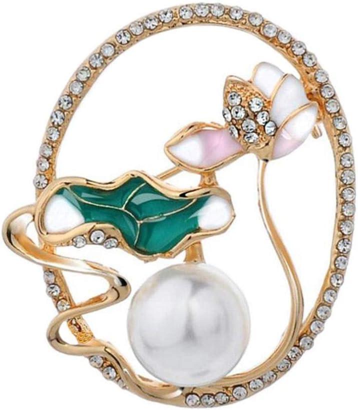KLHHG Pearl Ranking TOP18 and Diamond Brooch, Alloy Brooch Elegant Rare Ladies