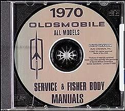 COMPLETE & UNABRIDGED 1970 OLDSMOBILE FACTORY REPAIR SHOP & SERVICE MANUAL CD - INCLUDES F-85, Cutlass, Supreme, 442, Custom Vista-Cruiser, Delta 88, Custom 88, Delta Royale 88, Ninety Eight, 98 Luxury, Toronado, Deluxe OLDS 70