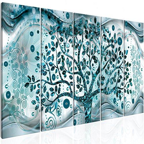 murando Cuadro en Lienzo Arbol Klimt 225x90 cm 5 Parti Impresión de 5 Piezas Material Tejido no Tejido Impresión Artística Imagen Gráfica Decoracion de Pared Cuadro - Abstracto l-C-0005-b-o