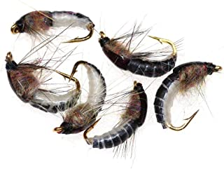 Lakeland Fishing Supplies wasserdichte Fliegenbox 10 25 oder 50 x gemischte Montanas Nymphen Fliegen Fliegen Forellenfischen