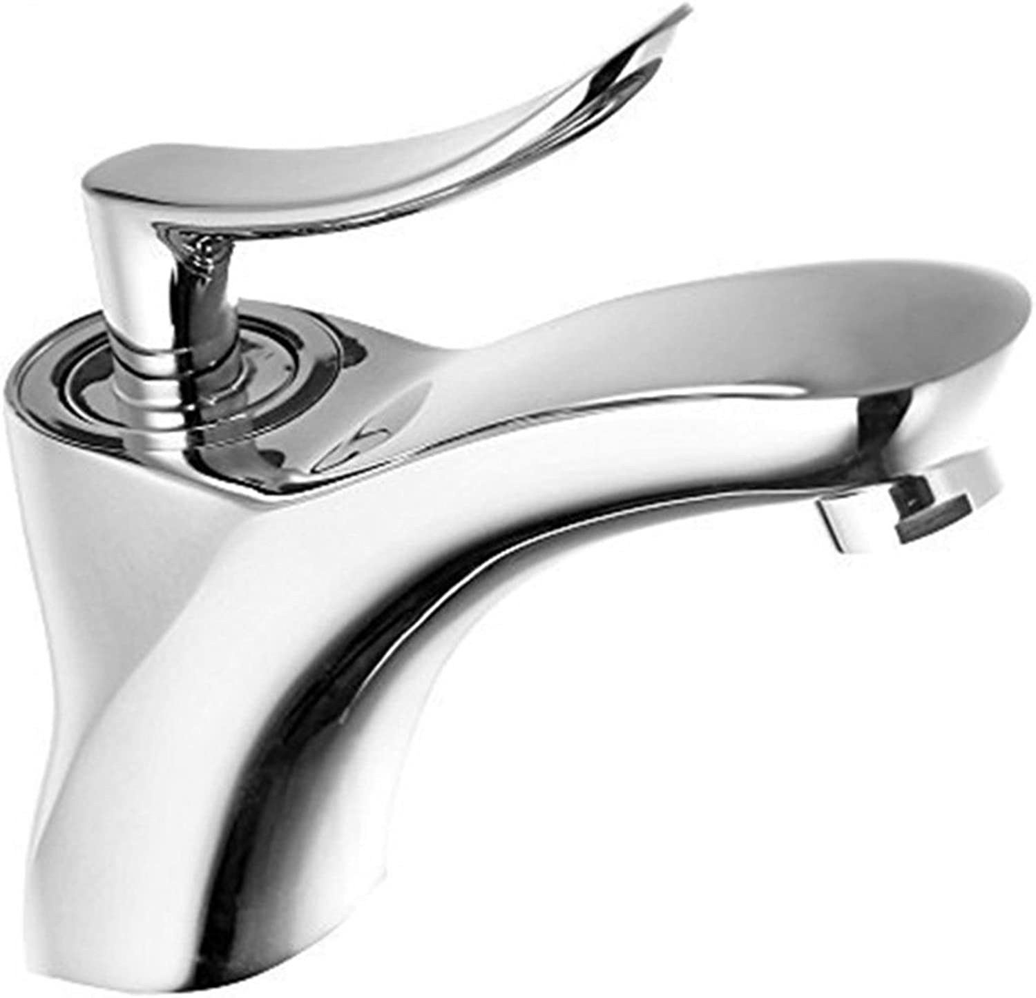 AQMMi Bathroom Sink Faucet Basin Mixer Tap Brass Single Lever Hot and Cold Water Basin Sink Tap Bathroom Bar Faucet