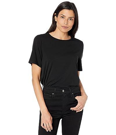 Eileen Fisher Crew Neck Short Short Sleeve Top in Fine Stretch Jersey Knit