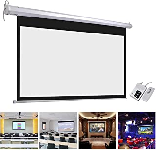 "Yescom 100"" Electric Motorized Projector Screen Auto with Remote Control 16:9 Movie Screen"