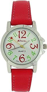 Ravel Ladies - Girls Silver Dial & Pink PU Buckle Strap Watch R0126.05.2