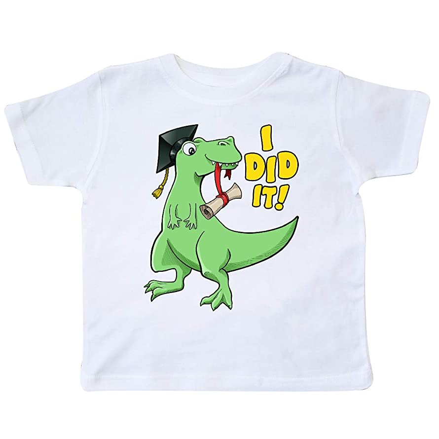 inktastic - I Did It!- Green Dinosaur Grad with Cap and Toddler T-Shirt 357a3