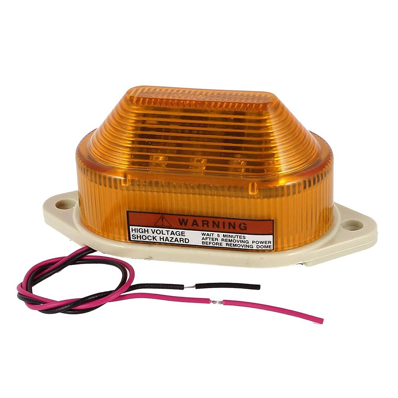 扇動そばに透けるuxcell 工業用信号灯 DC 24V LED フラッシュ?ストロボ 緊急 警報灯 イエロー LTE-5051