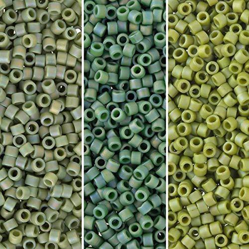 Miyuki Delica Seed Beads Bundle: Size 11/0, Palette Collection DB2309, DB2310, DB2311