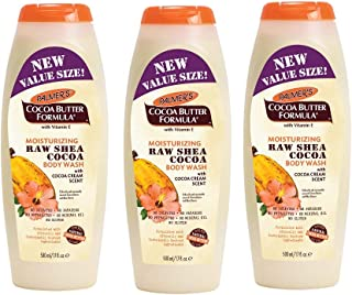 Palmers Cocoa Butter Body Wash Raw Shea Cocoa 17 Ounce (500ml) (3 Pack)