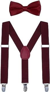 Kids Suspender Bow Tie Sets - Adjustable Braces With...