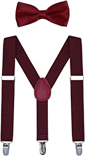 Kids Suspender Bow Tie Sets - Adjustable Braces With Bowtie Gift Idea for Boys and Girls by WELROG