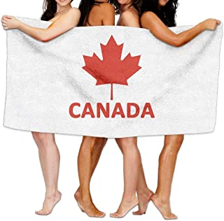 JWei_Top Bath Towels Canada Flag Maple Personalized Absorbent Beach Towel