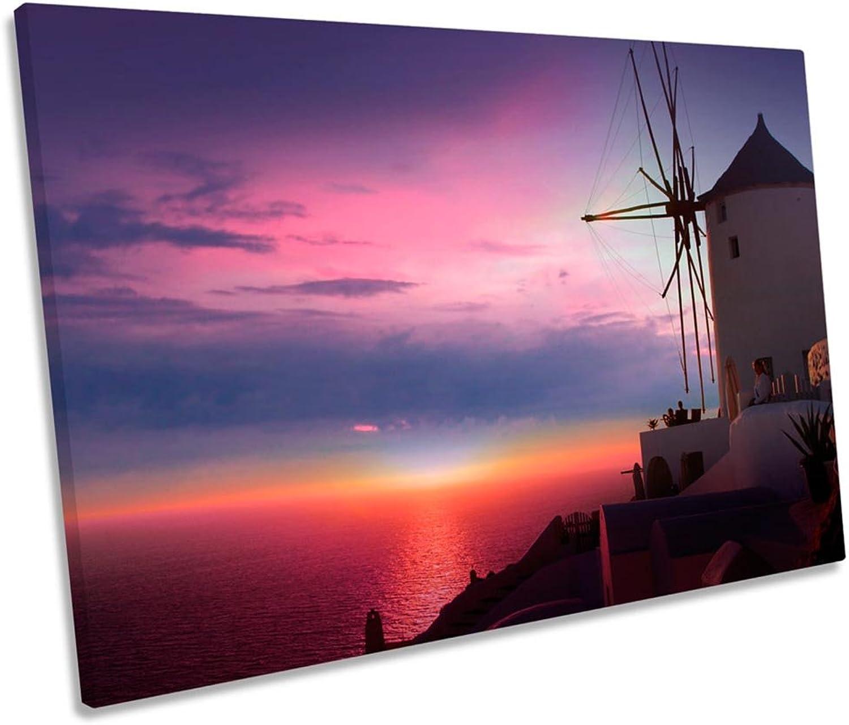 ahorra hasta un 50% Canvas Geeks Lienzo Impreso para Parojo, diseo de Santorini Santorini Santorini de Grecia, 60cm Wide x 40cm High  más descuento
