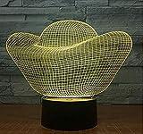 new Lingote de oro Money 3 Lámpara de ilusión 3D Luz de noche óptica Lámpara de mesa Led 7 Color Lámpara de decoración de dormitorio para niños Regalo de cumpleaños para niños Regalo de Navidadnew