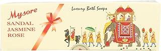 Mysore Sandal Bathing Soap - Sandal, Jasmine, Rose, 450g Pack
