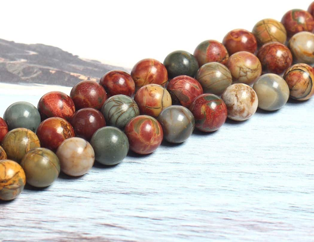 Finally resale start JPMSB Natural red Picasso Jasper for Gemstone Beads High material 4-12mm Round