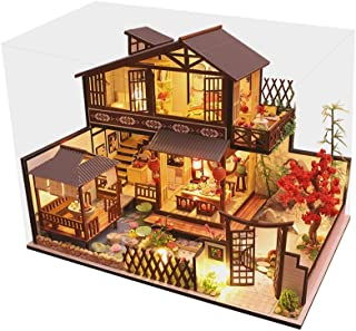 Dollhouse Miniature with Furniture, 3D Wooden Doll House Ancient Town DIY Miniature Model Toys Birthday Gifts for Kids Adu...