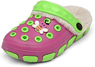Sponsored Ad - C CELANDA Toddler Boys Girls Comfy Lined Clogs House Slippers Winter Warm Fluffy Plush Cotton Shoes Cute Sl...
