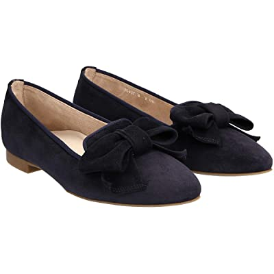 Paul Green Coby Flat (Blue Suede) Women