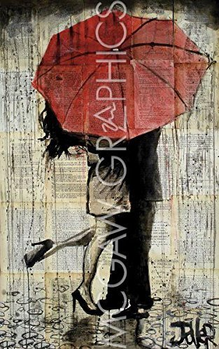 The Red Umbrella By Loui Jover Art Print Poster 19