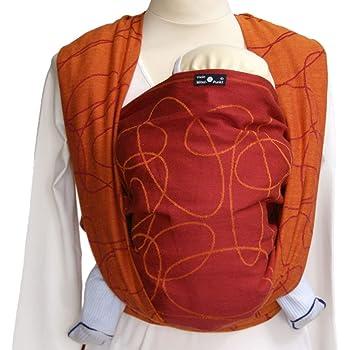 DIDYMOS Woven Wrap Baby Carrier Ellipsen Red (Organic Cotton), Size 7