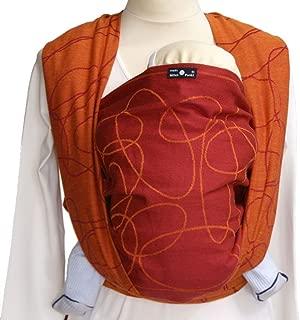 DIDYMOS Woven Wrap Baby Carrier Ellipsen Red (Organic Cotton), Size 5