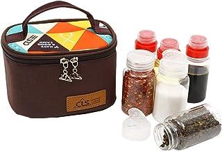 6pcs Épice extérieure portative compacte avec sac de rangement, conteneurs de rangement pour organisateur de bocaux de cui...