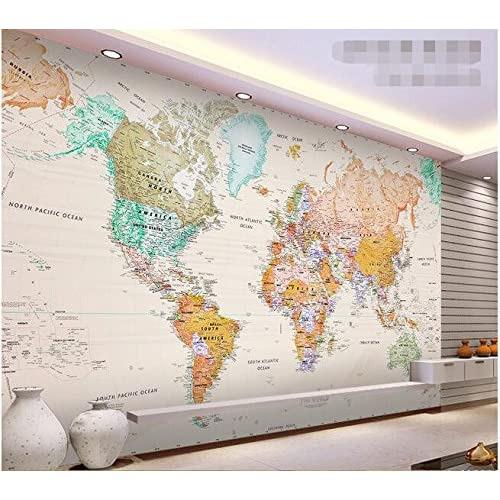 World Map Wallpaper: Amazon.ca on giant laminated world maps, giant tile murals, elephant wall mural, galaxy wall mural, world wall mural, enchanted forest wall mural, giant wall murals, peter pan wall mural,