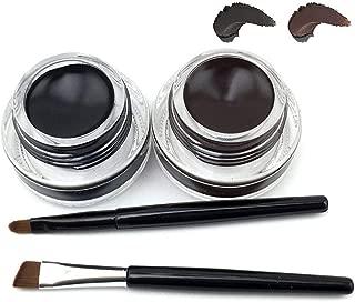 Fatetec Waterproof delineador de Ojos en Gel Eyeliner,2 en 1 Kit de cosméticos diseño (Set3)